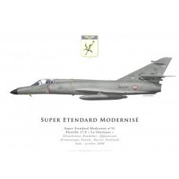 Print du Dassault Super Etendard Modernisé n°51, Flottille 17.F, Détachement Kandahar, Afghanistan, 2008
