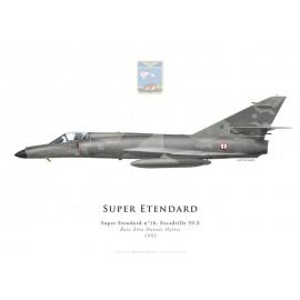 Super Etendard, Escadrille 59.S, Hyères naval airbase, French Navy, 1993