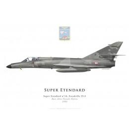 Print du Dassault Super Etendard n°16, Escadrille 59.S, BAN Hyères, 1993