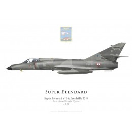 Print of the Dassault Super Etendard No 16, Escadrille 59.S, Hyères naval airbase, French Navy, 1993