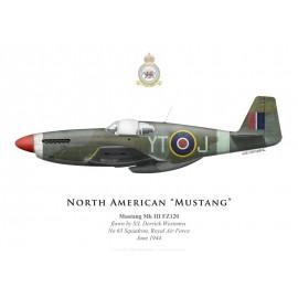 Mustang Mk III, S/L Derrick Westenra, No 65 Squadron, Royal Air Force, juin 1944
