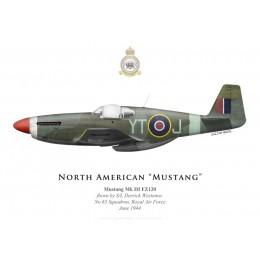 Print du North American Mustang Mk III FZ120, S/L Derrick Westenra, No 65 Squadron, Royal Air Force, juin 1944