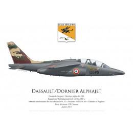 """Alpha Jet E, EE 2/2 """"Côte d'Or"""", centenaire des escadrilles SPA 57 et SPA 65, juillet 2015"""