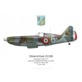 Dewoitine D.520, ADC Pierre Le Gloan, Groupe de Chasse III/6, 15 juin 1940