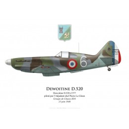 Dewoitine D.520, ADC Pierre Le Gloan, Groupe de Chasse III/6, Southern France, 15 June 1940