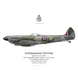 Supermarine Spitfire Mk XVI, S/L Anthony Reeves, No 74 Squadron, Royal Air Force, Drope, Allemagne, été 194