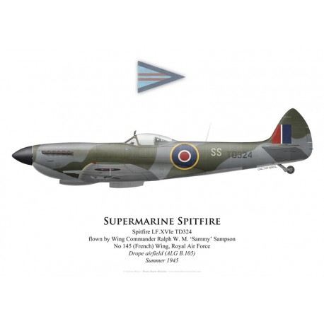 Supermarine Spitfire Mk XVI, W/C 'Sammy' Sampson, No 145 (French) Wing, Royal Air Force, Germany, summer 194
