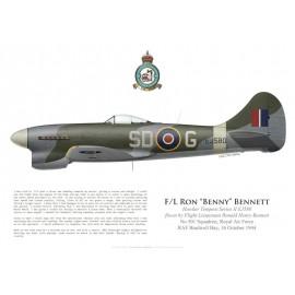 Tempest V, F/L Ron Bennett, No 501 Squadron, Royal Air Force, Octobre 1944