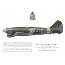 Tempest V, F/L Ron Bennett, No 501 Squadron, Royal Air Force, Octobre 1944