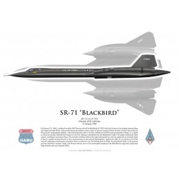 SR-71A Blackbird piloté par B. Weaver and J. Zwayer, 25 janvier 1966, Edwards AFB, US Air Force