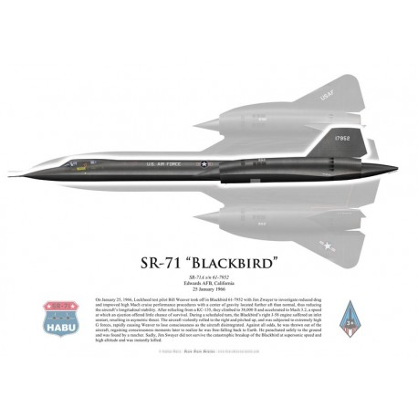 SR-71A Blackbird flown by B. Weaver and J. Zwayer, 25 January 1966, Edwards AFB, US Air Force