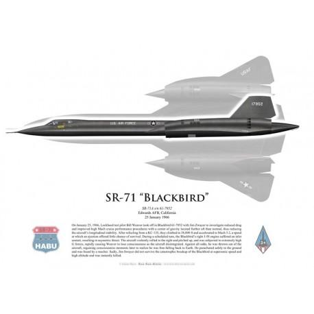 SR-71A Blackbird piloté par B. Weaver and J. Zwayer, 25 janvier 1966, Edwards AFB, US Air Force