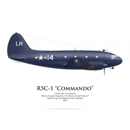 Curtiss R5C-1 Commando, VMR-252, US Marine Corps, MCAS El Toro, 1947