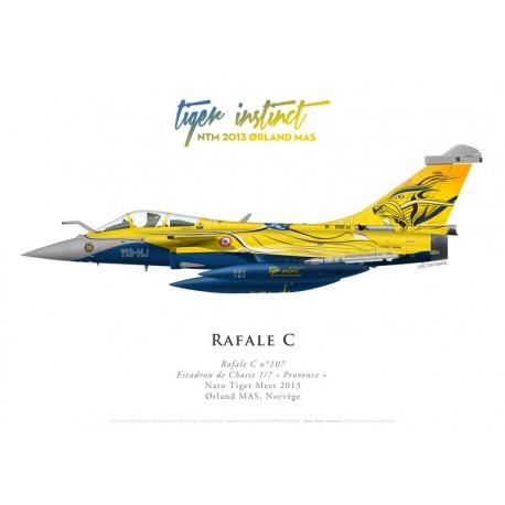 "Dassault Rafale C107, EC 1/7 ""Provence"", NATO Tiger Meet 2013, Ørland MAS, Norway"