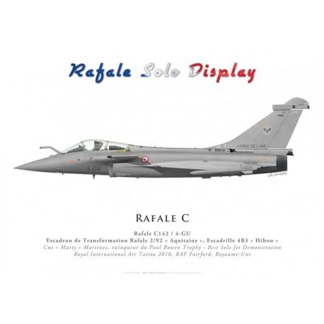 """Dassault Rafale C142, ETR 2/92 """"Aquitaine"""", Rafale Solo Display, RIAT 2016"""