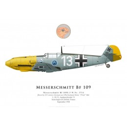 Bf 109E-3, Oblt. Heinz Bär, 1./JG 51, septembre 1940
