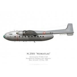Nord N.2501 Noratlas No 128, ET 2/63 Bigorre, French AF, BA 119 Pau, 1968