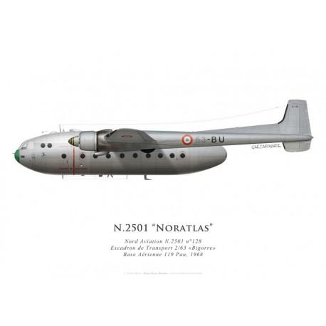 Nord N.2501 Noratlas n°128, ET 2/63 Bigorre, BA 119 Pau, 1968