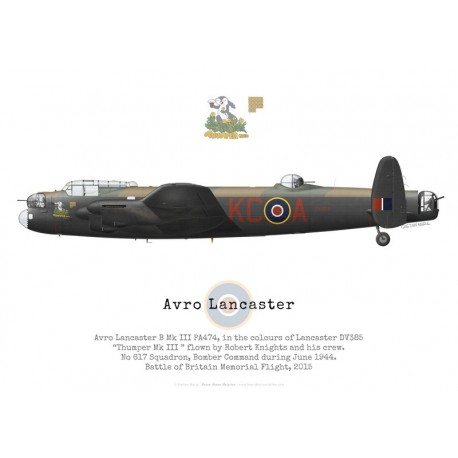 "Avro Lancaster Mk III PA474,""Thumper Mk III"", Battle of Britain Memorial Flight, 2015"