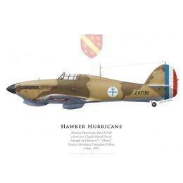"Hawker Hurricane Mk I, Claude Raoul Duval, FAFL, Groupe de Chasse ""Alsace"", 1941"