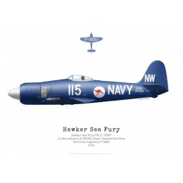 Hawker Sea Fury FB.11, F-AZXJ