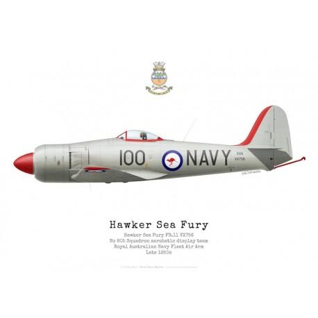 Hawker Sea Fury FB.11, VX756, No 805 Squadron aerobatic demonstration team, Royal Australian Navy