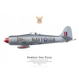 Sea Fury FB.11, TG118, No 870 Squadron aerobatic demonstration team, Royal Canadian Navy, 1952