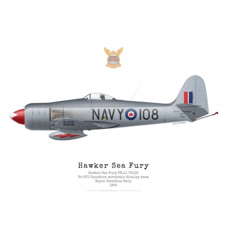 Hawker Sea Fury FB.11, TG118, patrouille acrobatique du No 870 Squadron, Royal Canadian Navy, 1952