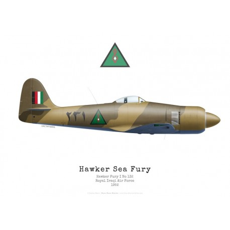 Hawker Fury I, n°132, Royal Iraqi Air Force, 1952
