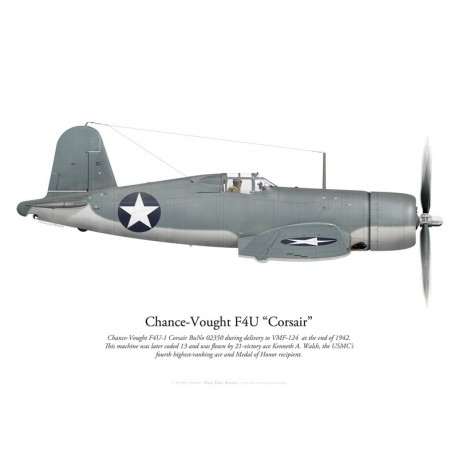Chance-Vought F4U-1 Corsair, VMF-124, fin 1942