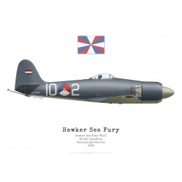 Hawker Sea Fury FB.11, No 860 Squadron, Royal Dutch Navy, 1948