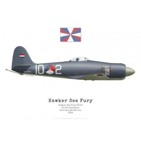 Hawker Sea Fury FB.11, No 860 Squadron, Marine Royale Néerlandaise, 1948