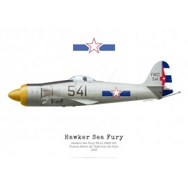 Sea Fury FB.11, FAEC 541, Cuban Air Force, 1958