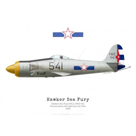 Hawker Sea Fury FB.11, FAEC 541, Cuban Air Force, 1958