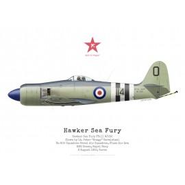 """Sea Fury FB.11, Lt """"Hoagy"""" Carmichael, No 802 NAS, Corée, 8 août 1952"""