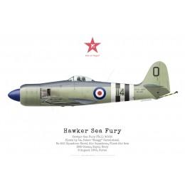 "Hawker Sea Fury FB.11 WJ232, Lt ""Hoagy"" Carmichael, No 802 NAS, Corée, 8 août 1952"