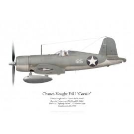 F4U-1 Corsair, 2/Lt Donald Balch, VMF-221, Guadalcanal, juillet 1943