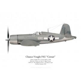 F4U-1 Corsair, Capt. A. R. Conant, VMF-215, Torokina, January 1944