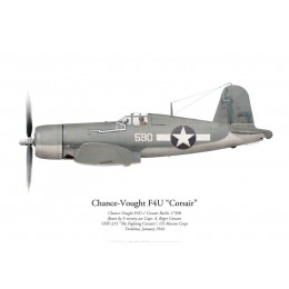 Chance-Vought F4U-1 Corsair, Capt. A. R. Conant, VMF-215, Torokina, January 1944