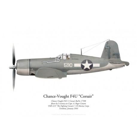 Chance-Vought F4U-1 Corsair, Capt. A. R. Conant, VMF-215, Torokina, January 1944
