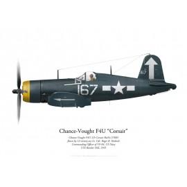 F4U-1D Corsair, Lt. Cdr. Roger Hedrick, CO VF-84, USS Bunker Hill, 1945