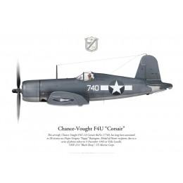 "F4U-1A Corsair, Major Gregory ""Pappy"" Boyington, VMF-214 ""Black Sheep"", Vella Lavella, 1943"