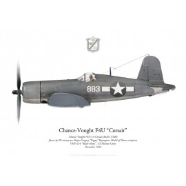 "F4U-1A Corsair, Major Gregory ""Pappy"" Boyington, VMF-214 ""Black Sheep"",1943"