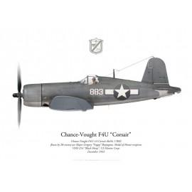 "F4U-1A Corsair, Major Gregory ""Pappy"" Boyington, VMF-214 ""Black Sheep"",1943"