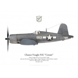 "Chance-Vought F4U-1A Corsair, Major Gregory ""Pappy"" Boyington, VMF-214 ""Black Sheep"", 1943"