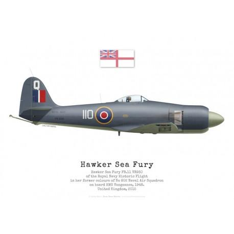Hawker Sea Fury FB.11 VR930, Royal Navy Historic Flight, 2015