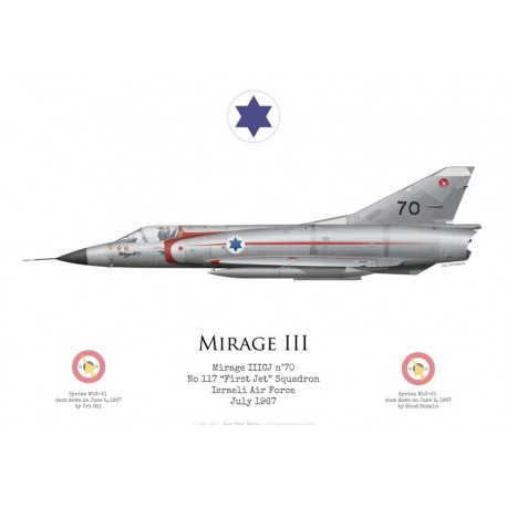 "Dassault Mirage IIICJ n°70, No 117 ""First Jet"" Squadron, armée de l'air israélienne, 1967"