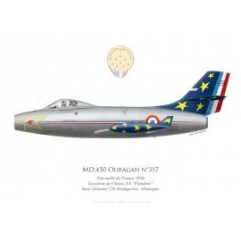 "MD.450 Ouragan n°317, Patrouille de France 1956, Escadron de Chasse 3/4 ""Flandres"""