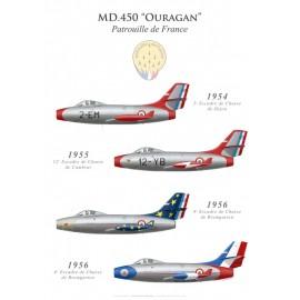 La Patrouille de France sur Dassault Ouragan (1954-1956)