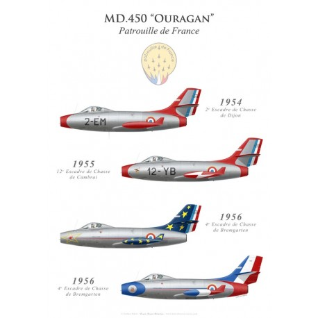 The Dassault Ouragan of the Patrouille de France (1954-1956)